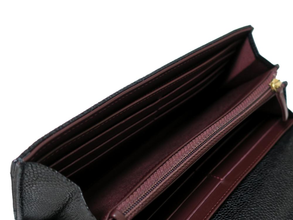 シャネル マトラッセ 長財布 キャビアスキン A50096