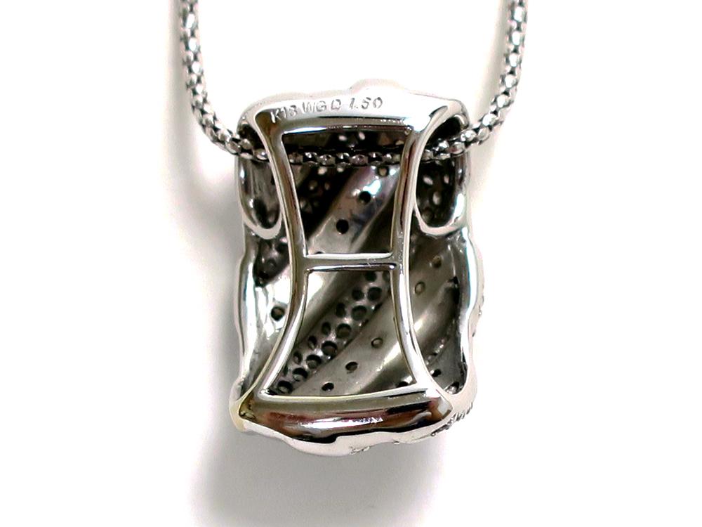 ジュエリー ホワイトゴールド ダイヤモンド ネックレス ダイヤ1.50ct