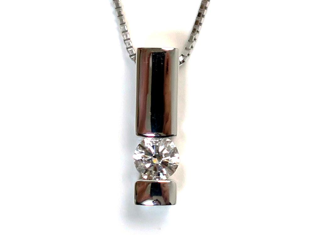 ジュエリー ホワイトゴールド ダイヤモンド ネックレス ダイヤ0.30ct