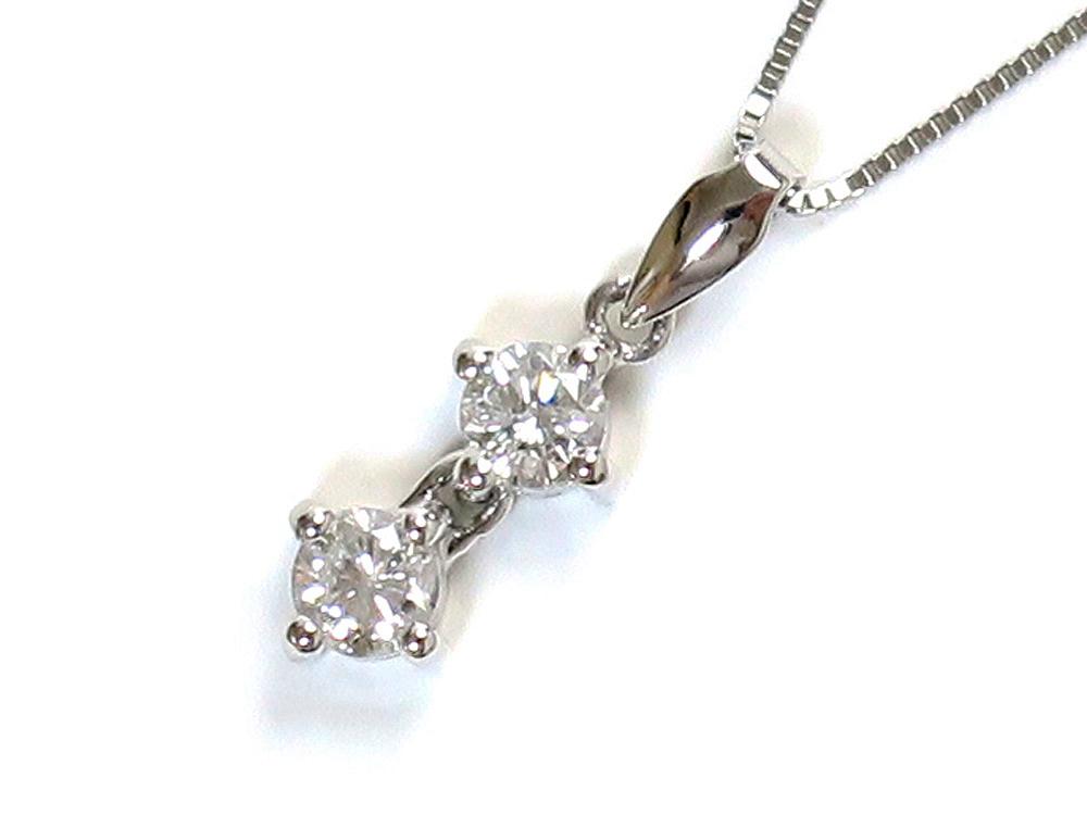 ジュエリー プラチナ ダイヤモンド ネックレス ダイヤ0.40ct