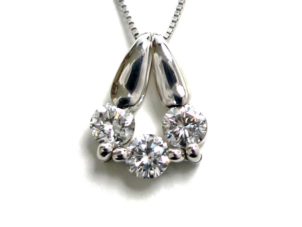 ジュエリー ホワイトゴールド ダイヤモンド 2Wayネックレス ダイヤ0.50ct