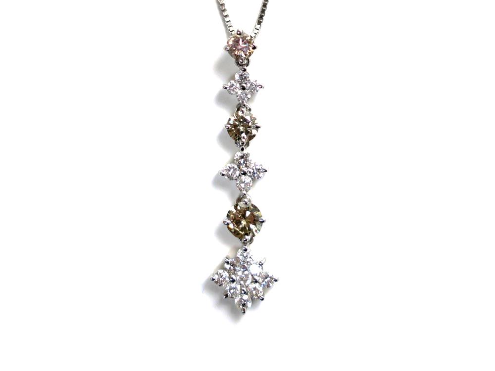 ジュエリー ホワイトゴールド ダイヤモンド ネックレス ダイヤ1.30ct