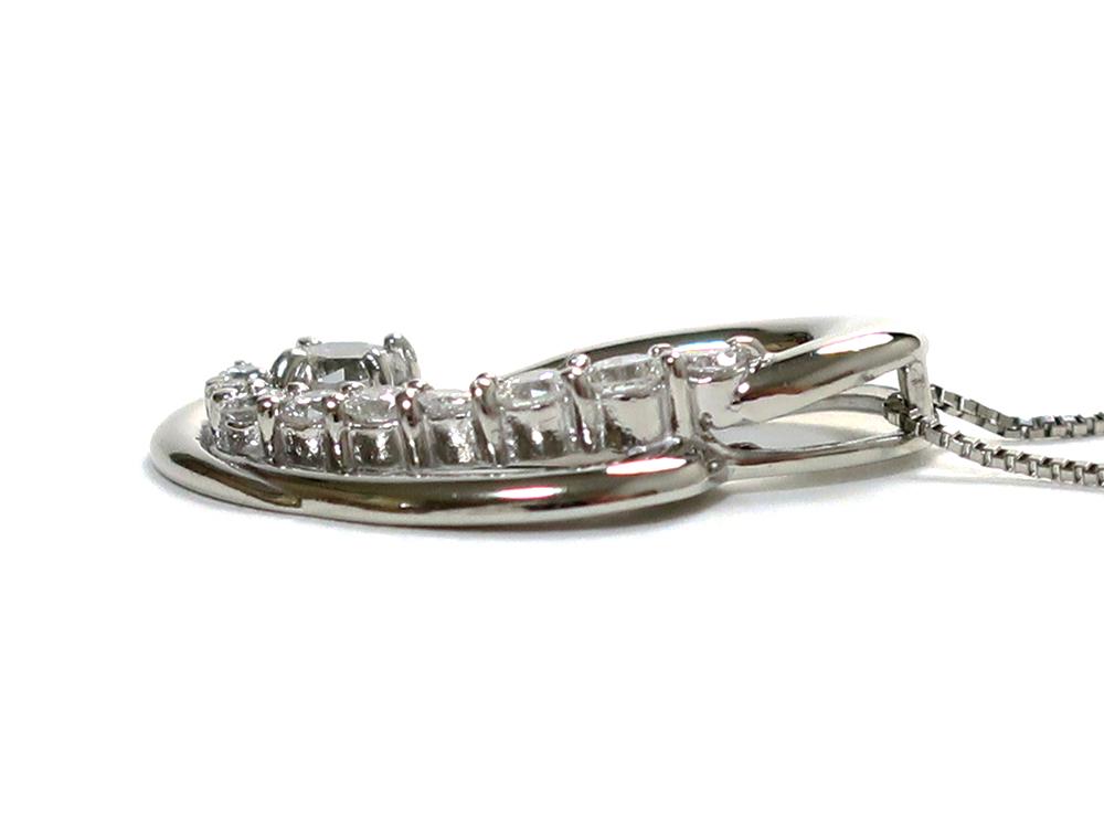 ジュエリー プラチナ ダイヤモンド ネックレス ダイヤ0.50ct