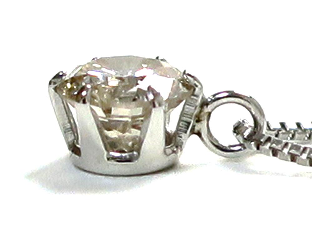 ジュエリー プラチナ ダイヤモンド ネックレス ダイヤ0.324ct