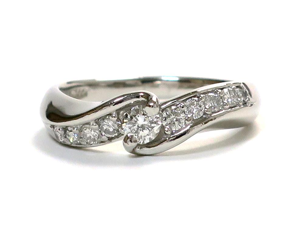 ジュエリー プラチナ ダイヤモンド リング ダイヤ0.50ct