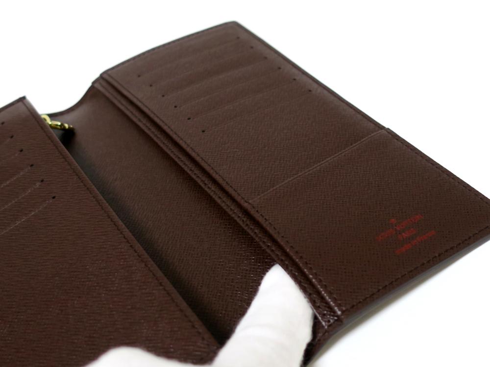 ルイヴィトン ダミエ エベヌ ポルトフォイユ・ブラザ 長財布 N60017