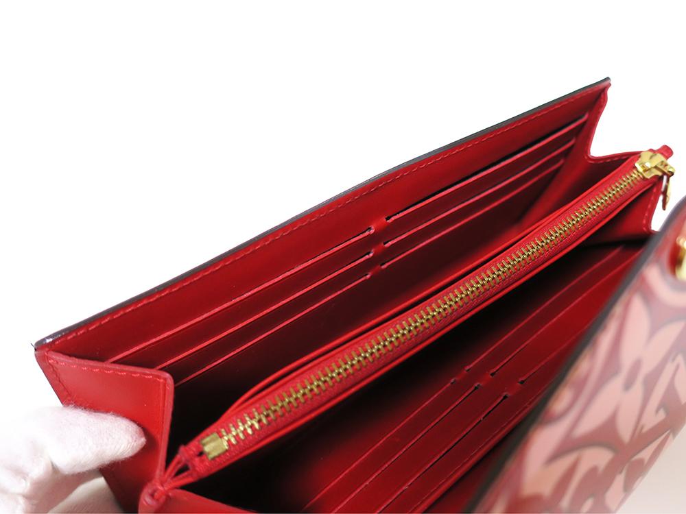ルイヴィトン モノグラム・ヴェルニ スィートモノグラム ポルトフォイユ・サラ 長財布 M90127
