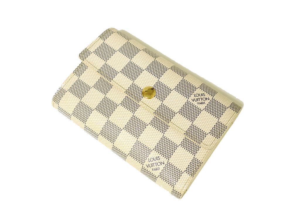 ルイヴィトン ダミエ アズール ポルトフォイユ・アレクサンドラ 財布 N63068