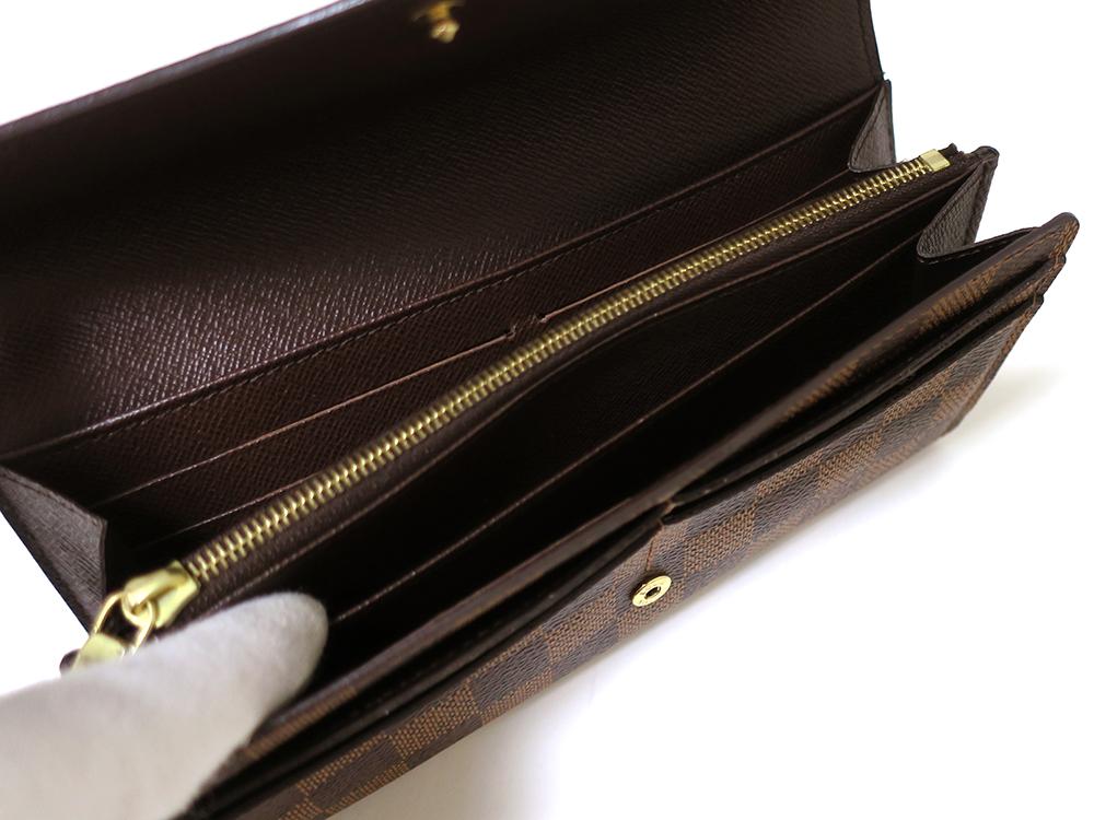 ルイヴィトン ダミエ エベヌ ポルトフォイユ・サラ 長財布 N63209
