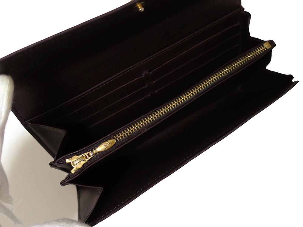 ルイヴィトン モノグラム・ヴェルニ ポルトフォイユ・サラ 長財布 M93524