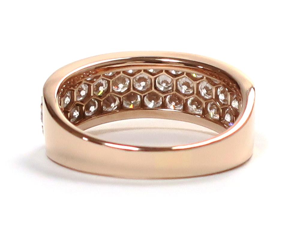 ジュエリー ピンクゴールド ダイヤモンド リング ダイヤ1.68ct