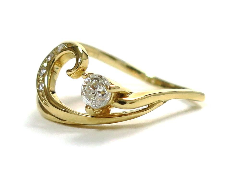 ジュエリー イエローゴールド ダイヤモンド リング ダイヤ0.276ct