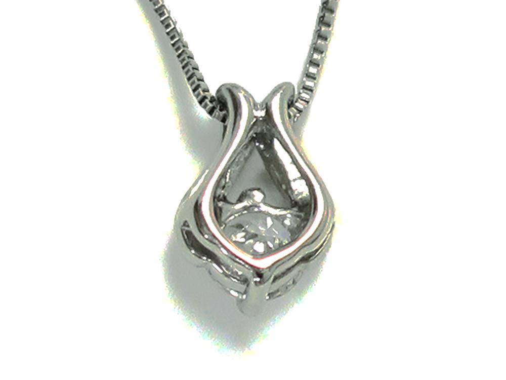 ジュエリー プラチナ ダイヤモンド ネックレス ダイヤ0.15ct