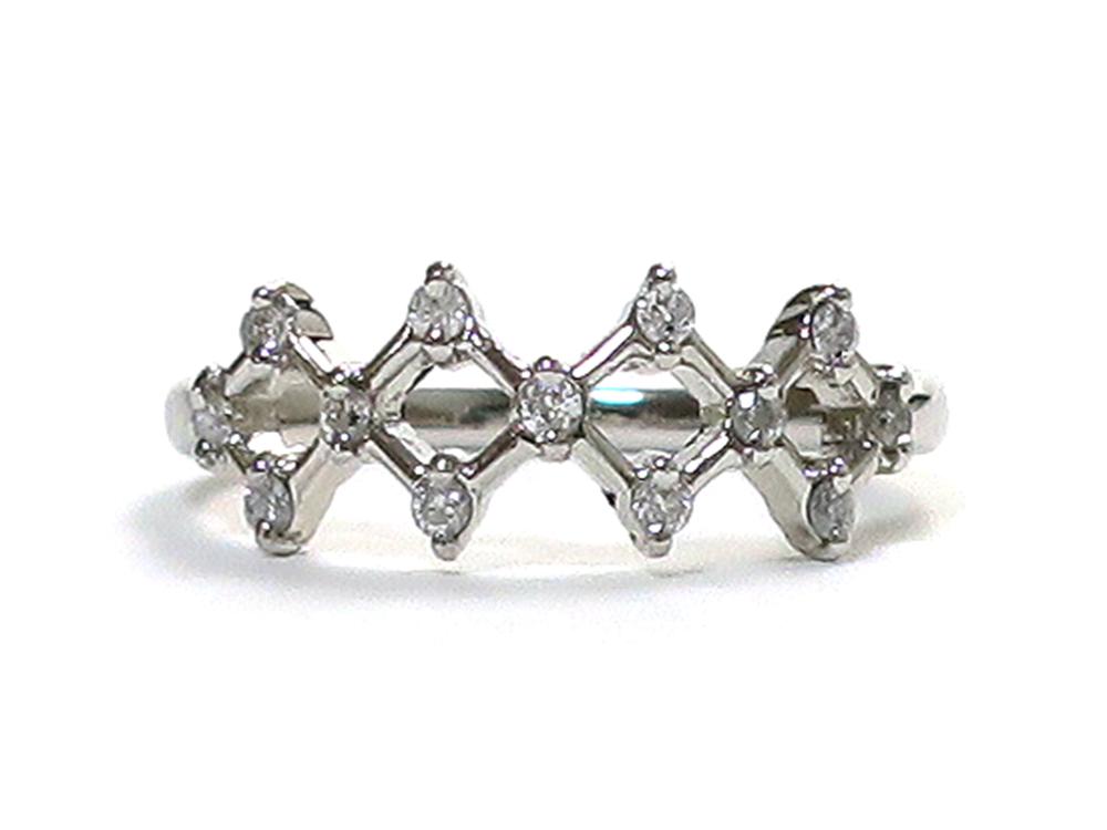 ジュエリー プラチナ ダイヤモンド リング ダイヤ0.17ct