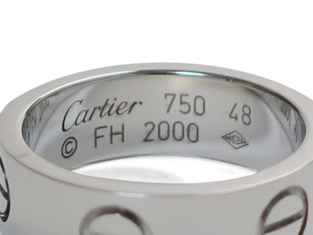 カルティエ ラブリング ホワイトゴールド B40847