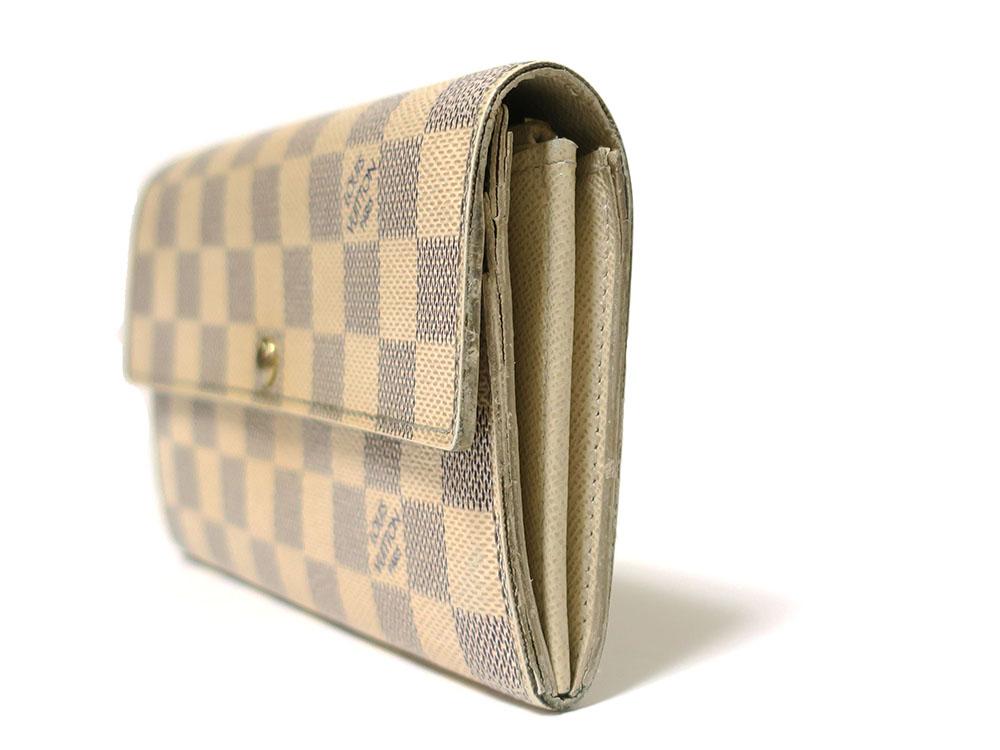 ルイヴィトン ダミエ アズール ポルトフォイユ・サラ 長財布 N61735
