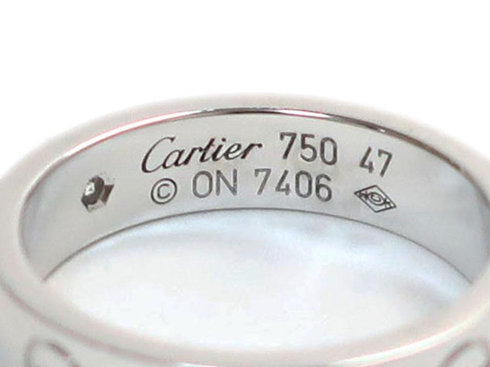カルティエ ミニラブリング ホワイトゴールド 1Pダイヤモンド B40505