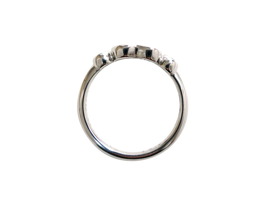 ティファニー エルサ・ペレッティ オープン ハートリング プラチナ 2Pダイヤモンド