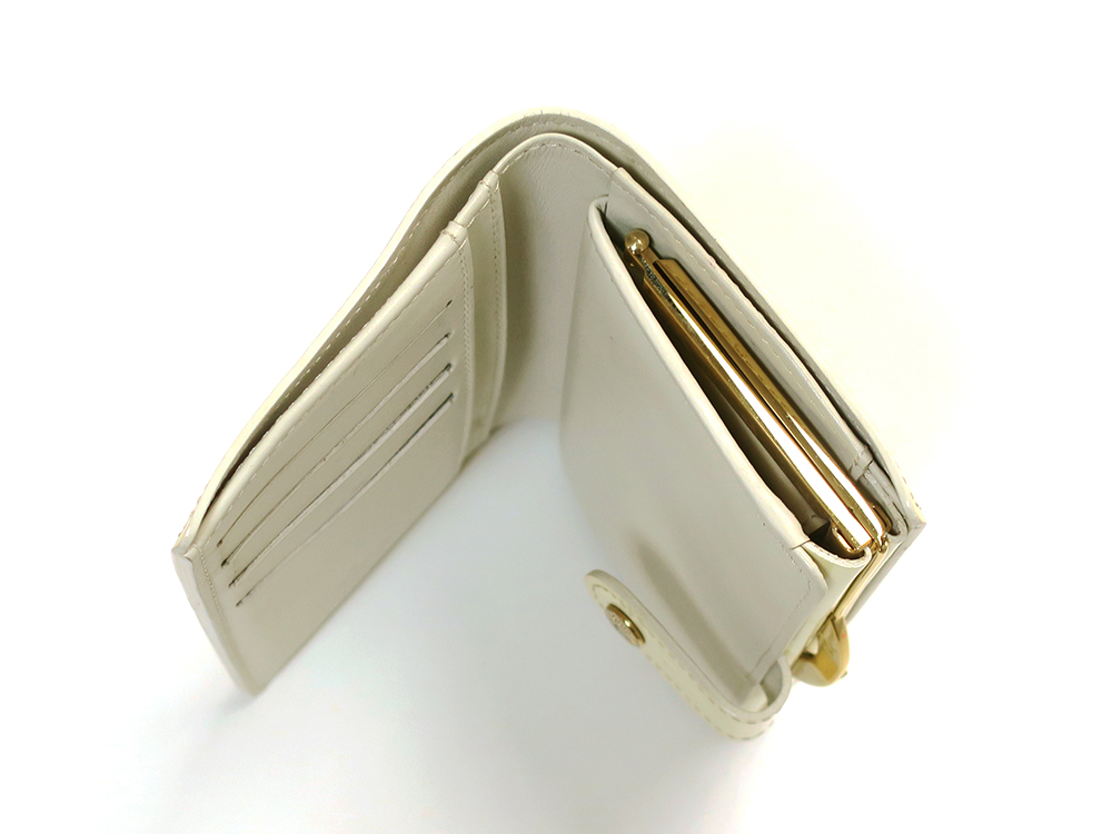 ルイヴィトン モノグラム・ヴェルニ ポルト モネ・ビエ ヴィエノワ がま口財布 M91363