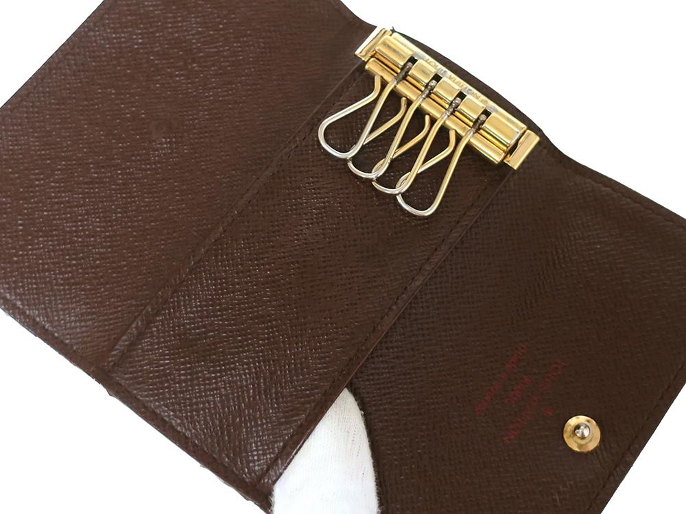 ルイヴィトン ダミエ エベヌ ミュルティクレ4 キーケース4連 N62631 Bランク オープンポケット