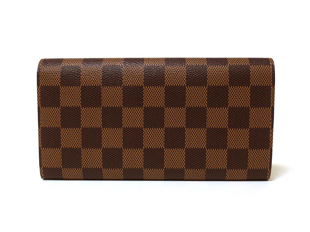 ルイヴィトン ダミエ エベヌ ポルトフォイユ・サラ 長財布 N61734 Aランク 背面