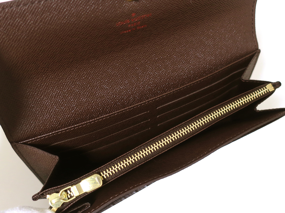 ルイヴィトン ダミエ エベヌ ポルトフォイユ・サラ 長財布 N61734 Aランク カード入れ01