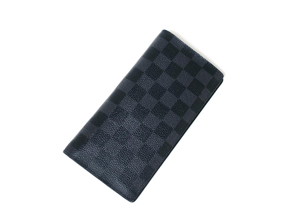 ルイヴィトン ダミエ グラフィット ポルトフォイユ・ブラザ 長財布 N62665 ABランク 上面