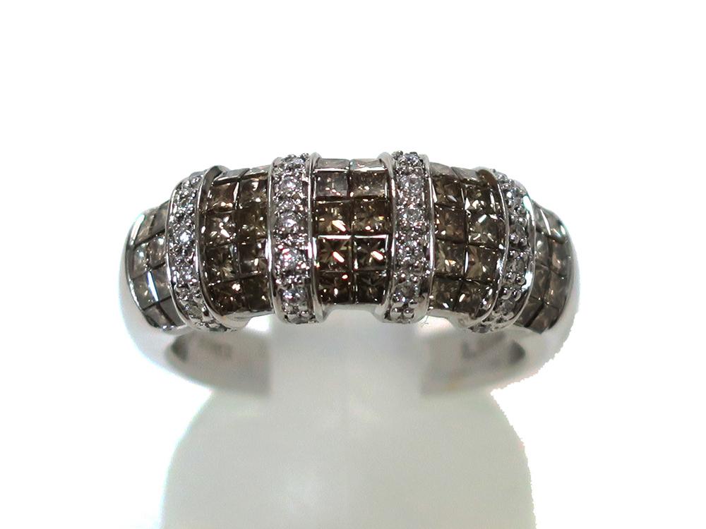 ジュエリー ホワイトゴールド ダイヤモンド リング ダイヤ 1.27ct 正面