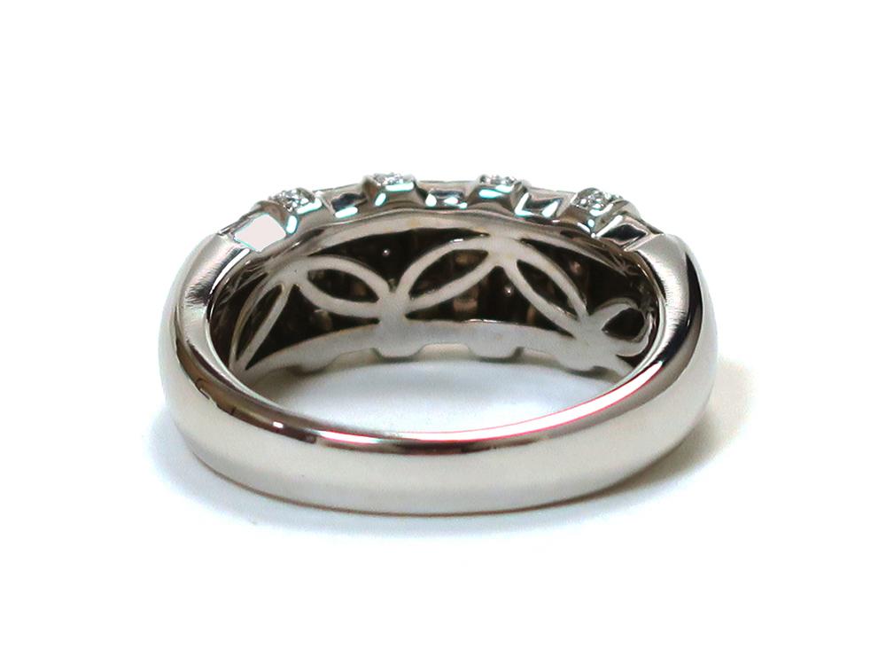 ジュエリー ホワイトゴールド ダイヤモンド リング ダイヤ 1.27ct 背面