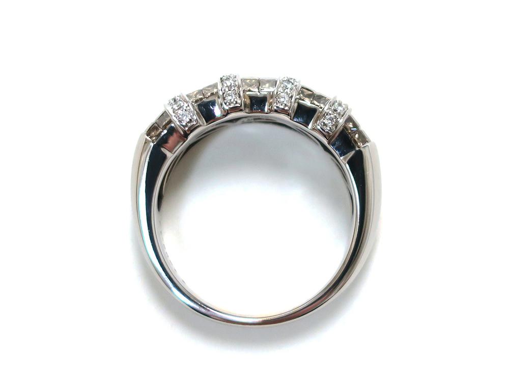 ジュエリー ホワイトゴールド ダイヤモンド リング ダイヤ 1.27ct 上面