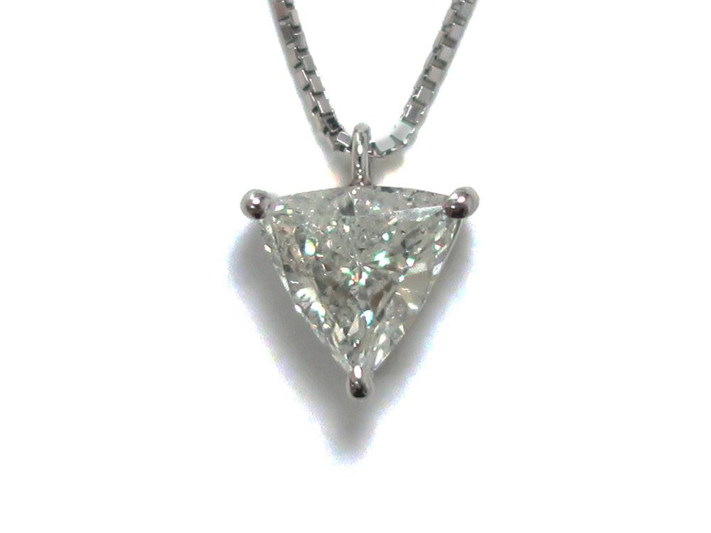 ジュエリー プラチナ トリリアント ダイヤモンド ネックレス ダイヤ1.02ct 正面