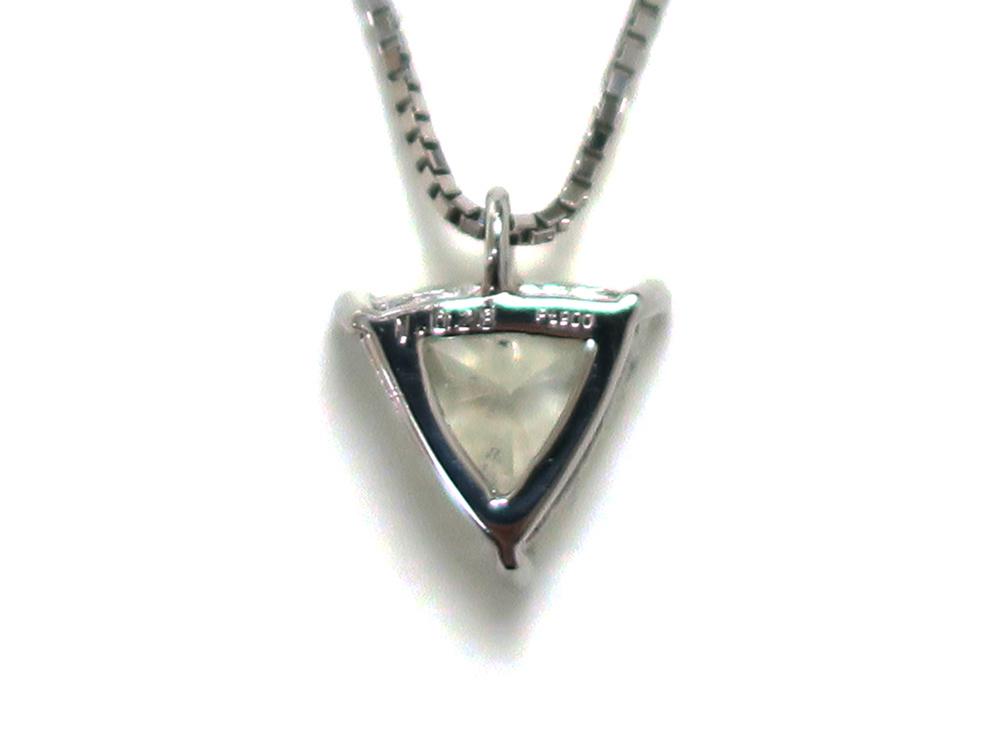 ジュエリー プラチナ トリリアント ダイヤモンド ネックレス ダイヤ1.02ct 背面