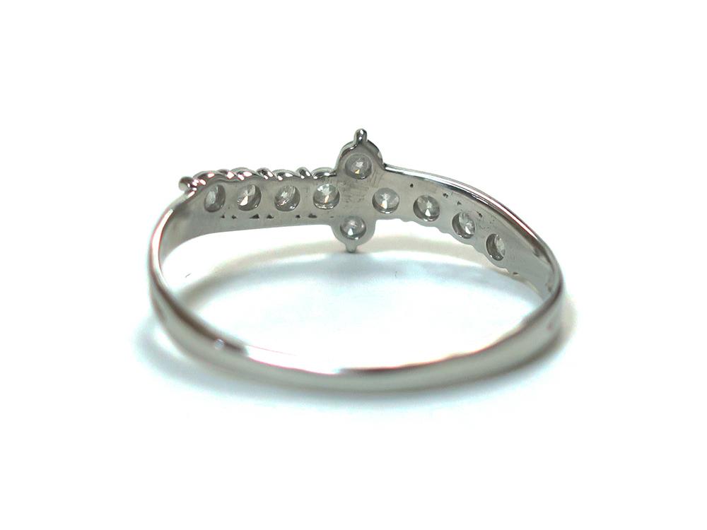 ジュエリー プラチナ ダイヤモンド リング ダイヤ0.50ct 2.1g 背面