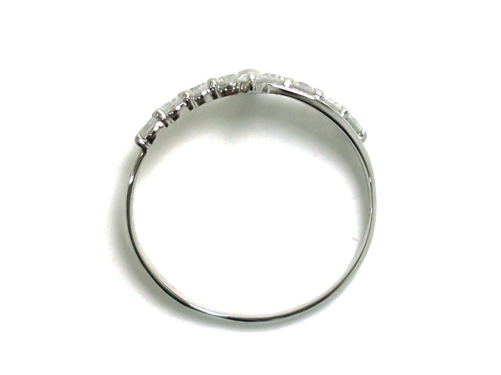 ジュエリー プラチナ ダイヤモンド リング ダイヤ0.50ct 2.1g 上面
