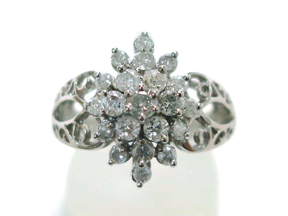 ジュエリー プラチナ ダイヤモンド リング ダイヤ1.03ct 正面
