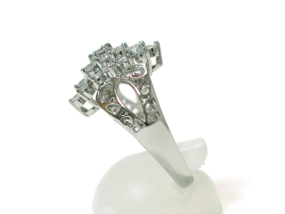 ジュエリー プラチナ ダイヤモンド リング ダイヤ1.03ct 側面01