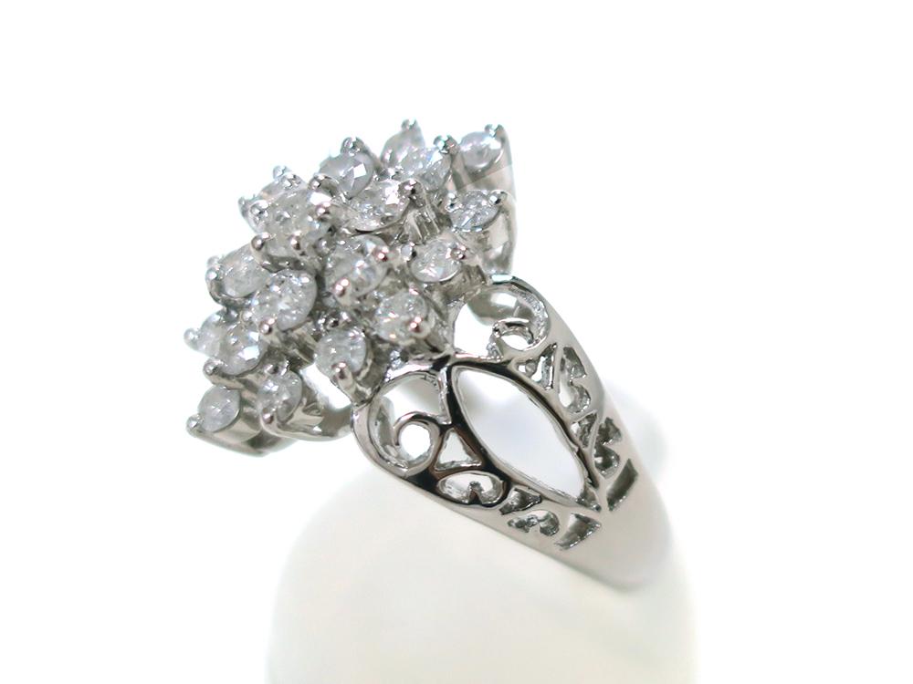 ジュエリー プラチナ ダイヤモンド リング ダイヤ1.03ct 側面02