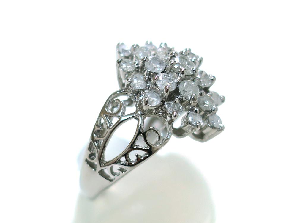 ジュエリー プラチナ ダイヤモンド リング ダイヤ1.03ct 側面04