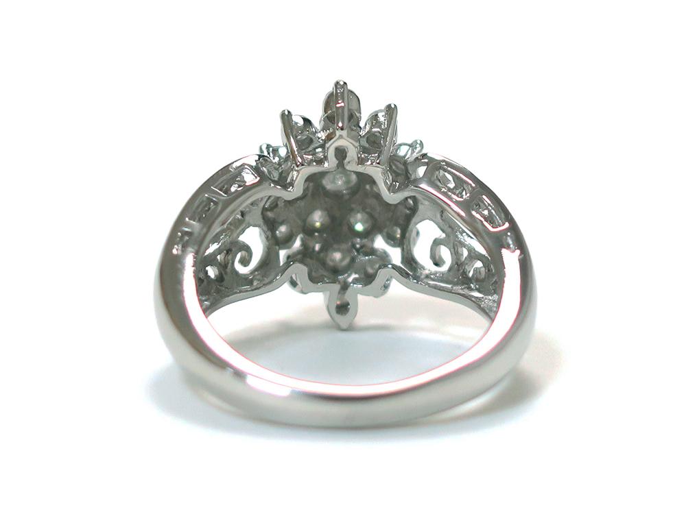 ジュエリー プラチナ ダイヤモンド リング ダイヤ1.03ct 背面