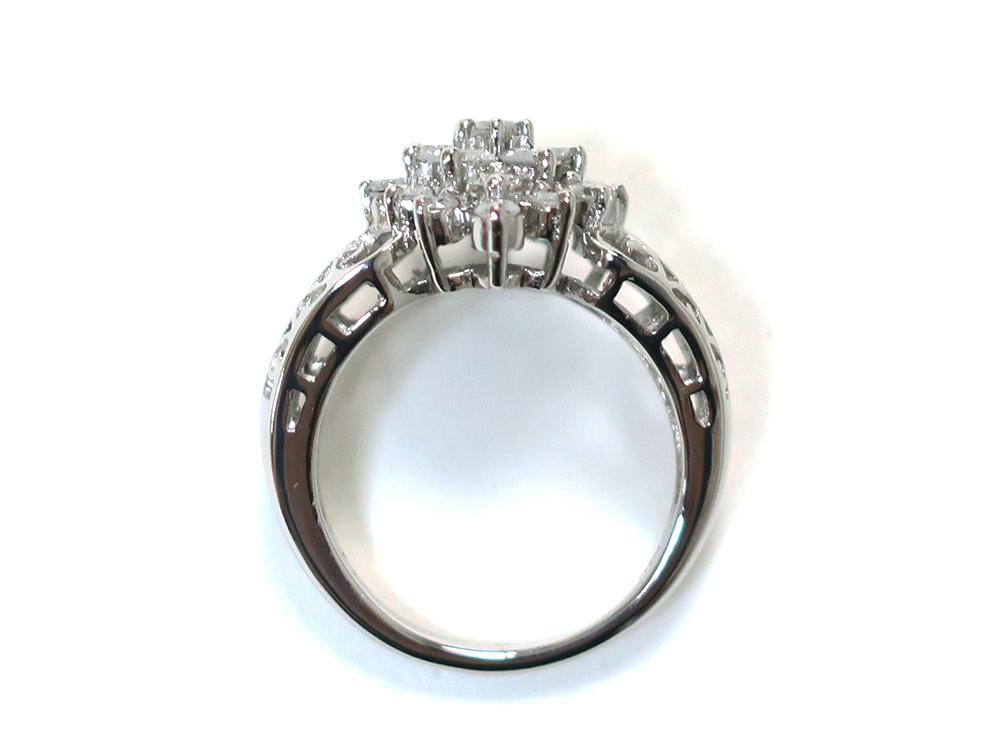 ジュエリー プラチナ ダイヤモンド リング ダイヤ1.03ct 上面