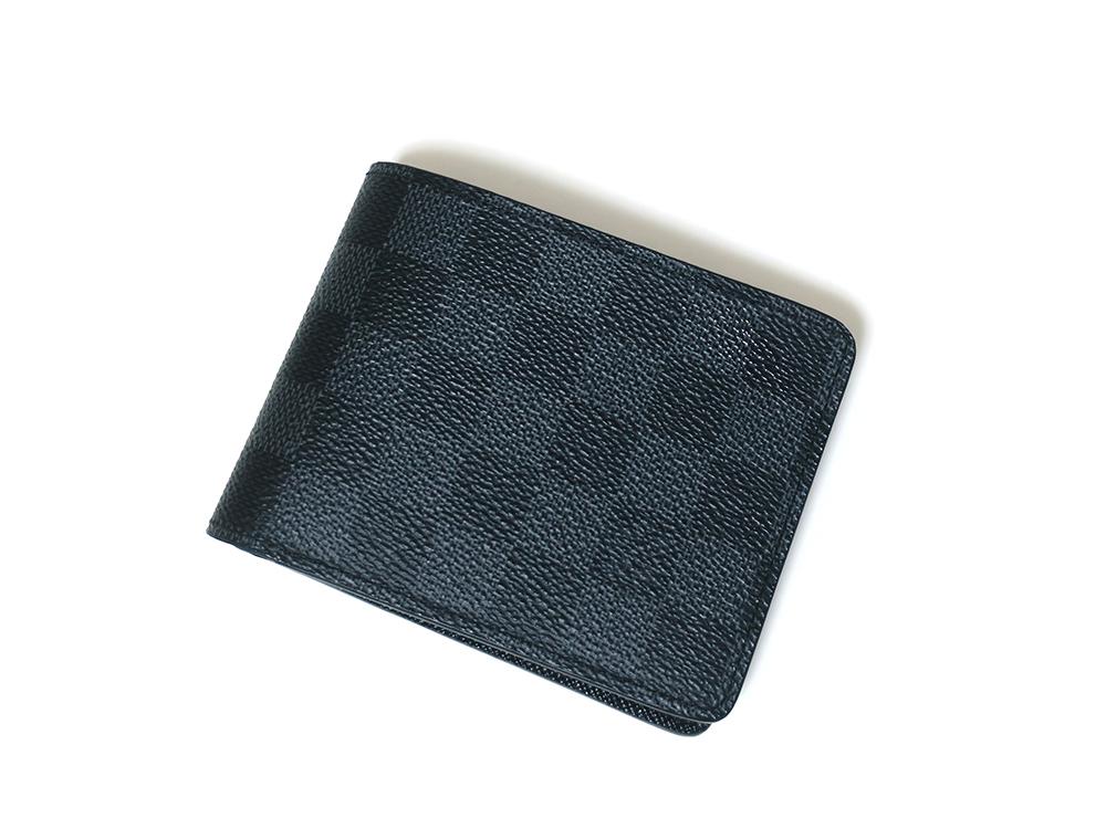 ルイヴィトン ダミエ・グラフィット ポルトフォイユ・ ミュルティプル 財布 N62663 背面
