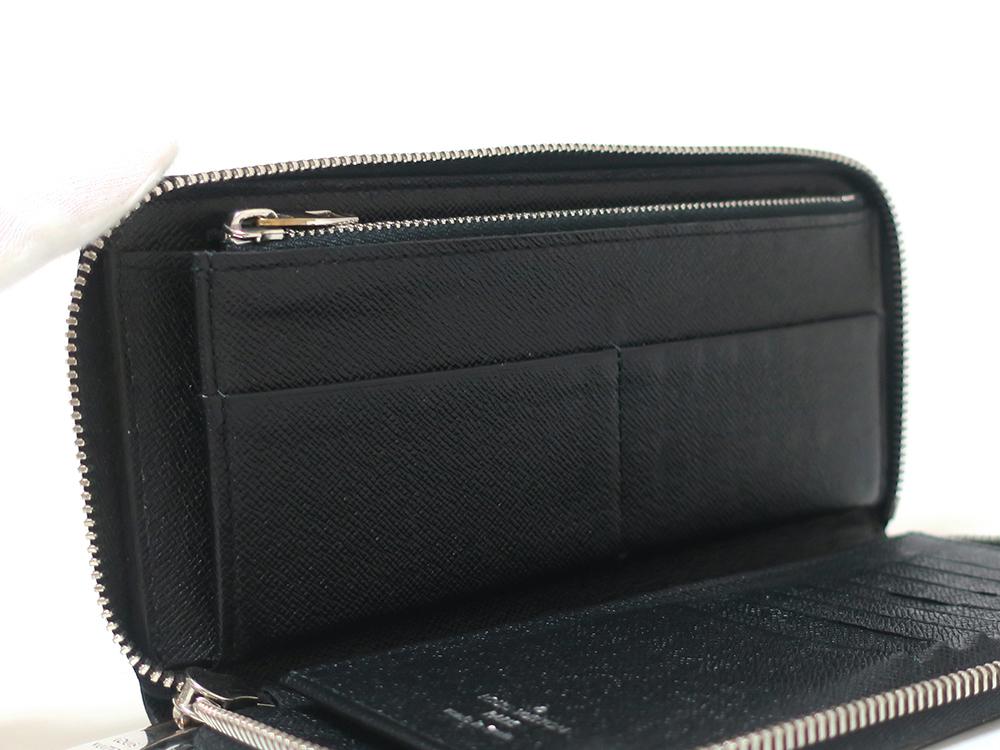 ルイヴィトン ダミエ グラフィット ジッピー・ウォレット・ヴェルティカル 長財布 N63095 Bランク  カード入れ01