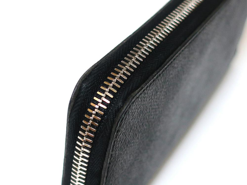 ルイヴィトン ダミエ グラフィット ジッピー・ウォレット・ヴェルティカル 長財布 N63095 Bランク 外側ダメージ02