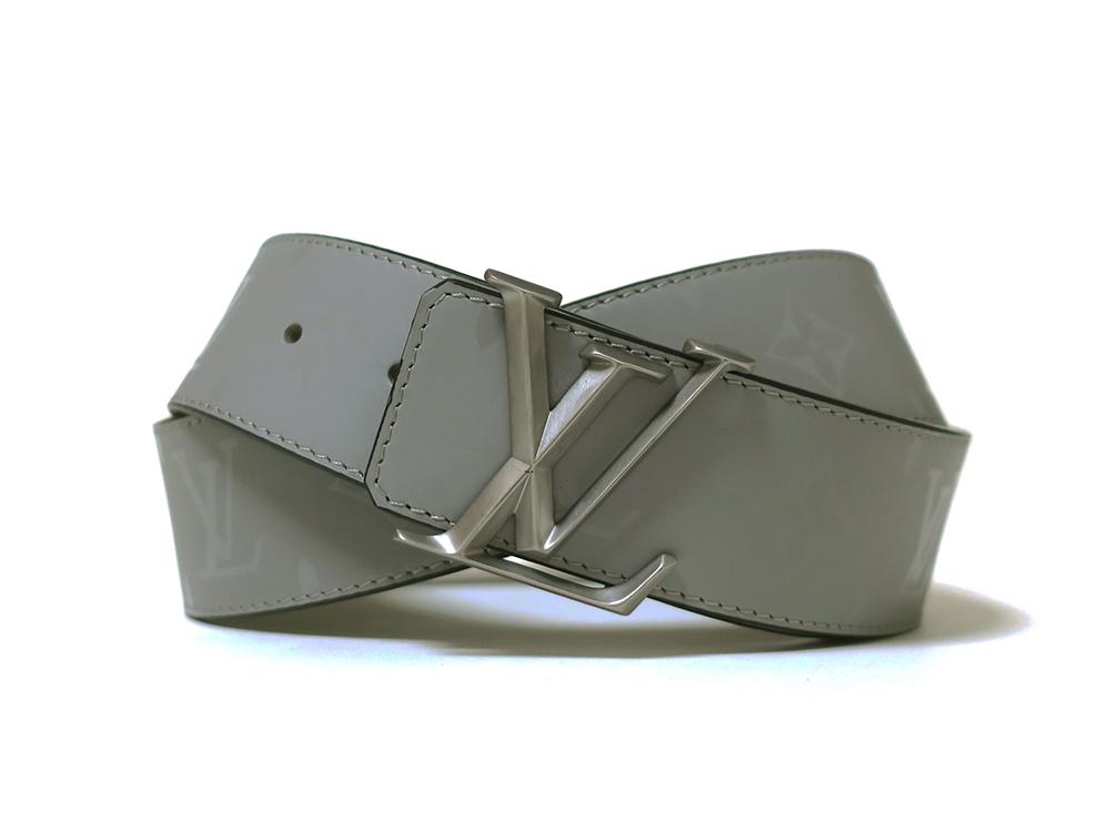 ルイヴィトン サンチュール LVピラミッド リバーシブル ベルト M0121U 正面01