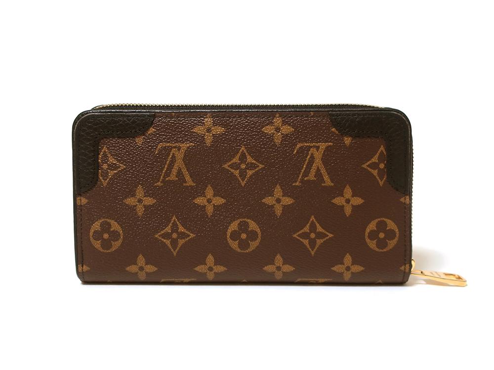 ルイヴィトン モノグラム ジッピー・ウォレット レティーロ 長財布 M61855 背面
