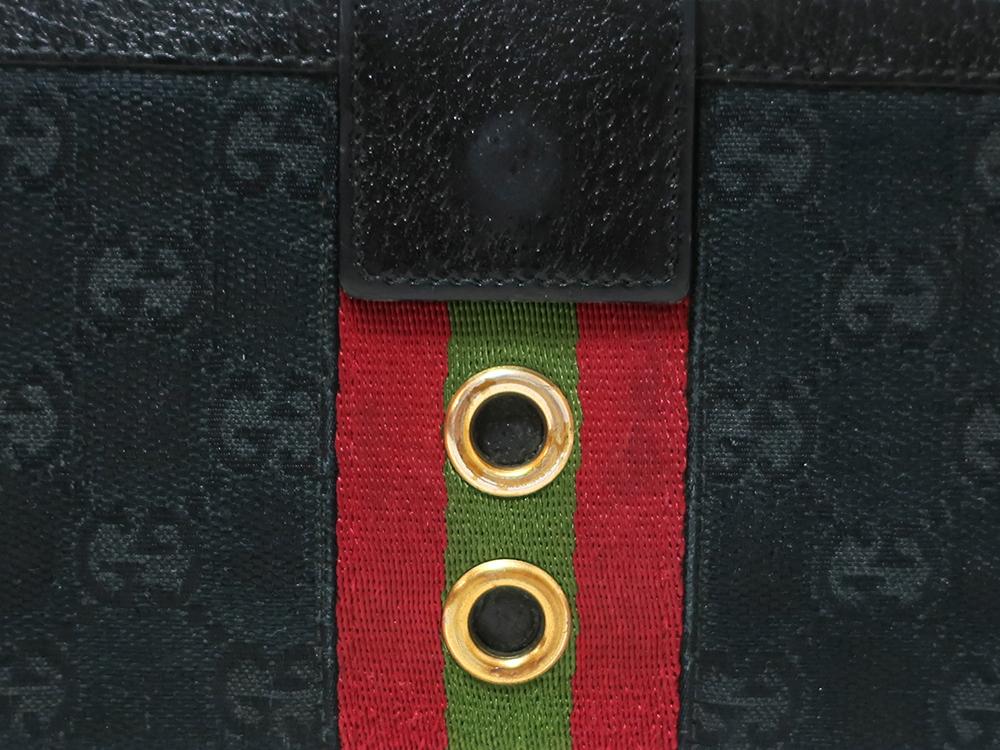 グッチ GGキャンバス 長財布 144178 外側ダメージ05