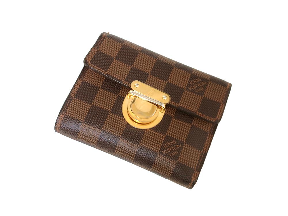 ルイヴィトン ダミエ エベヌ ポルトフォイユ・コアラ 財布 N60005 Bランク 上面