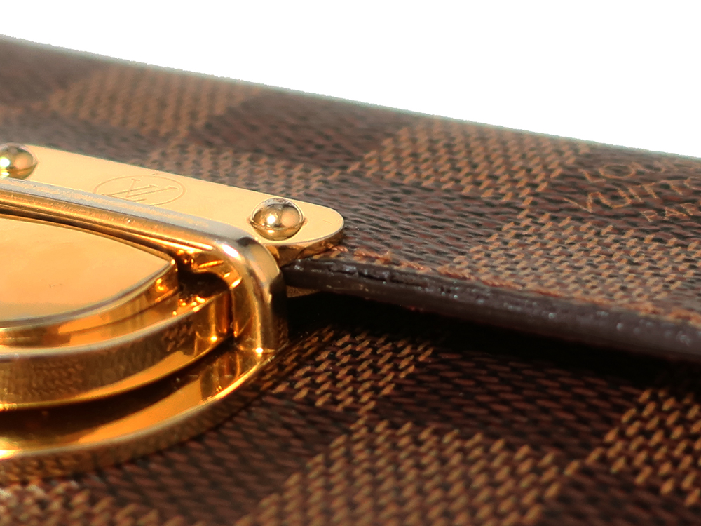 ルイヴィトン ダミエ エベヌ ポルトフォイユ・コアラ 財布 N60005 Bランク 外側ダメージ02
