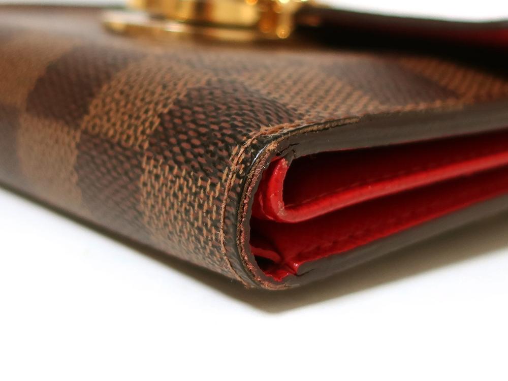 ルイヴィトン ダミエ エベヌ ポルトフォイユ・コアラ 財布 N60005 Bランク 外側ダメージ04