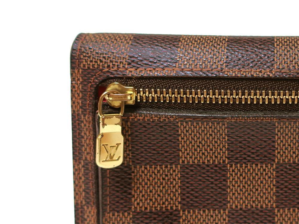 ルイヴィトン ダミエ エベヌ ポルトフォイユ・コアラ 財布 N60005 Bランク 外側ダメージ06